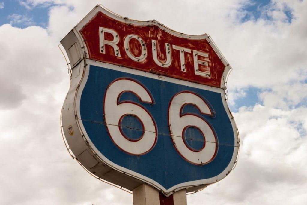 Route 66 Straßenschild USA Urlaub