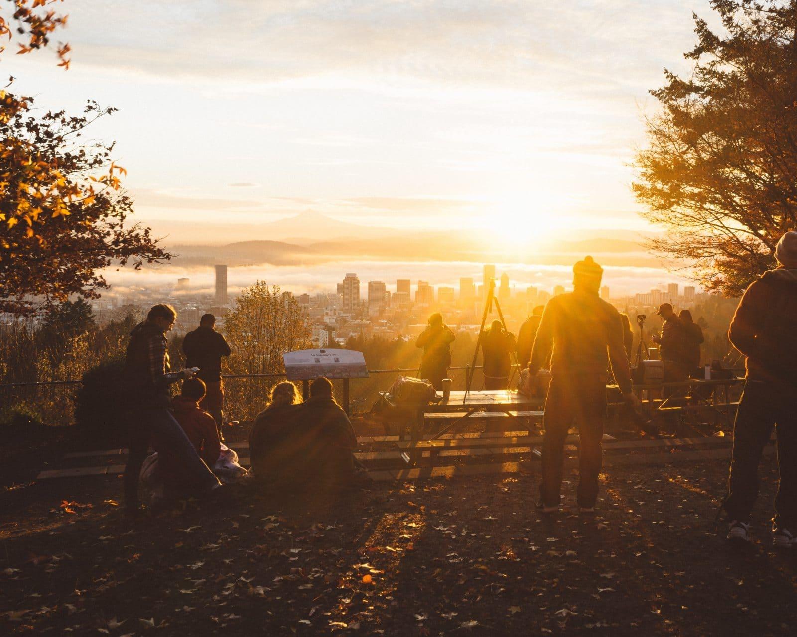 Sonnenuntergang in Portland