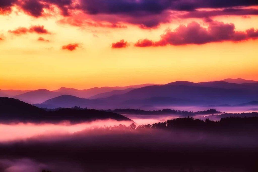 Great Smoky Mountains Sonnenuntergang