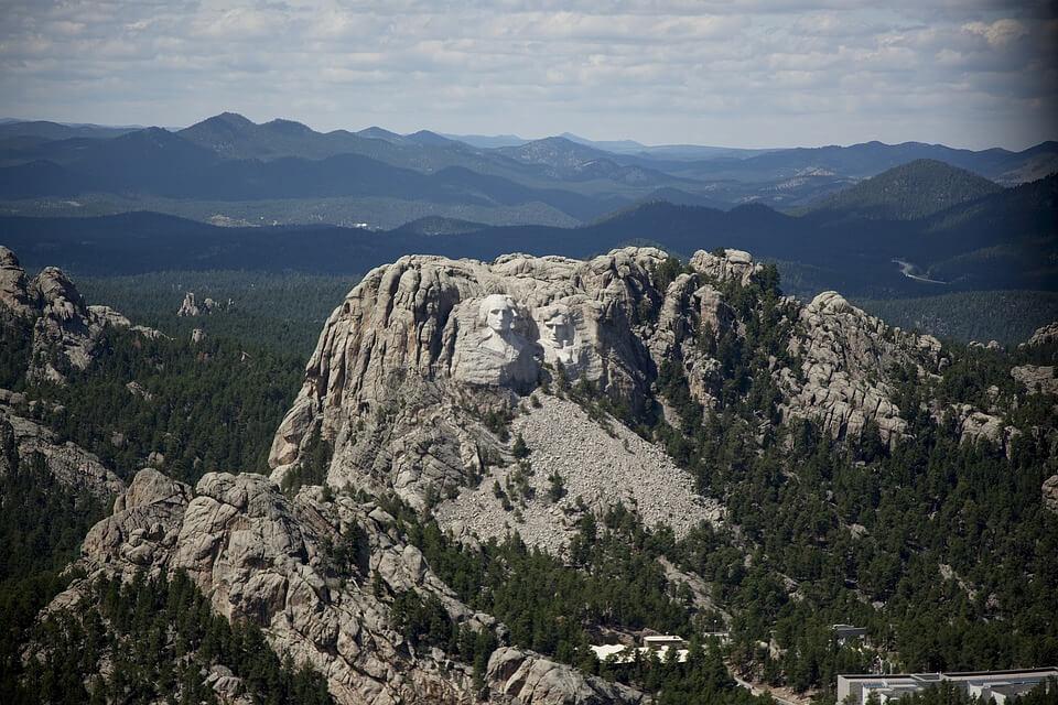 Luftaufnahme von Mount Rushmore