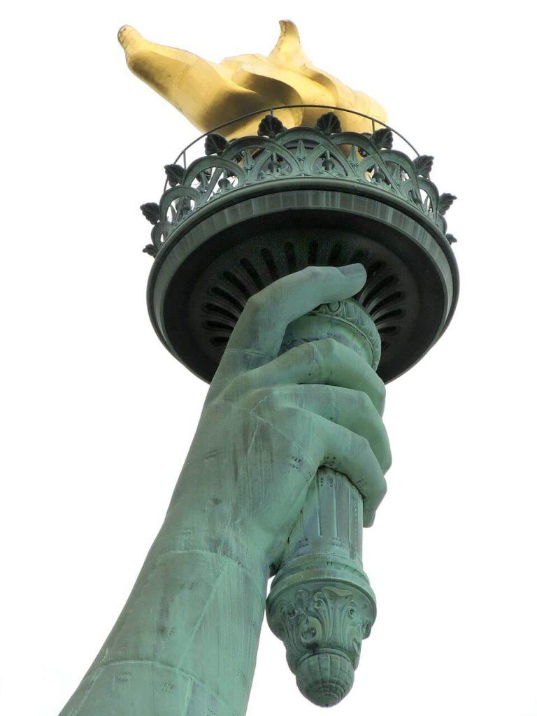 Freiheitsstatue Fackel nach New York mit Ihrem ESTA USA