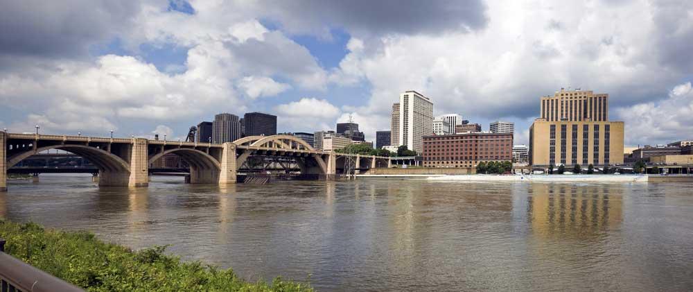 Panorama Ansicht von Minneapolis-St. Paul