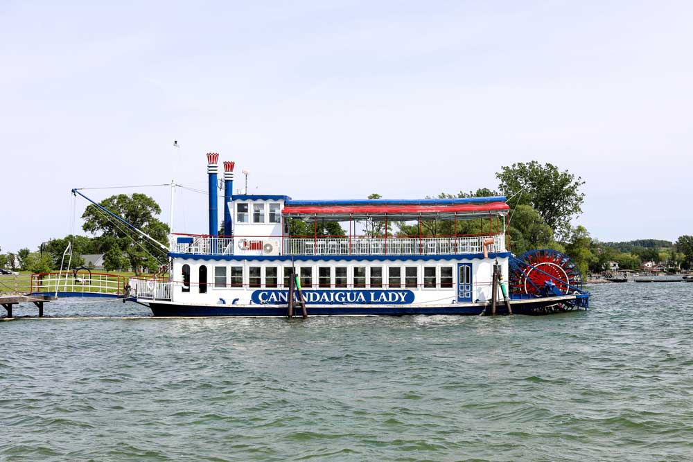 The Canandaigua lady cruise boat on Canandaigua lake