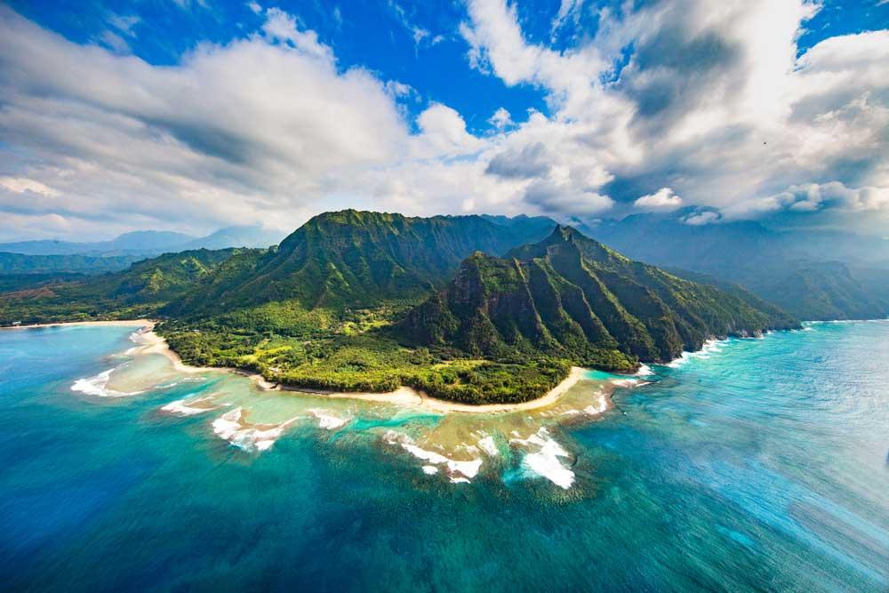 Aerial View of Na Pali Coast,Kauai