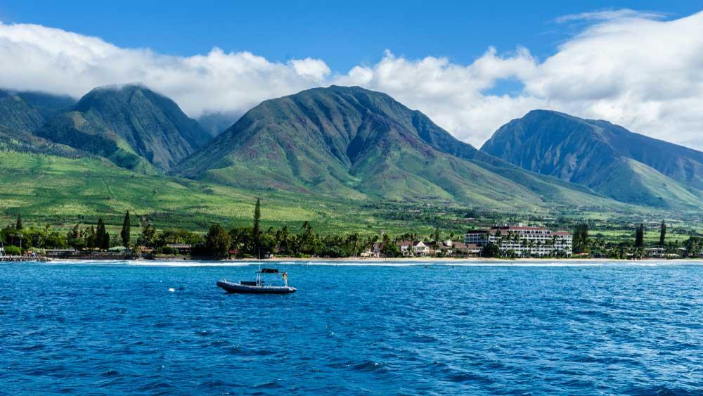 Die Küste von Lahaina auf Maui, Hawaii