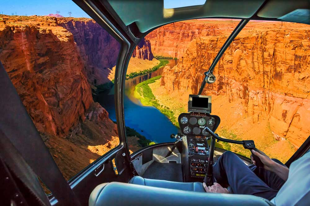 Helikopter Flug über den Grand Canyon