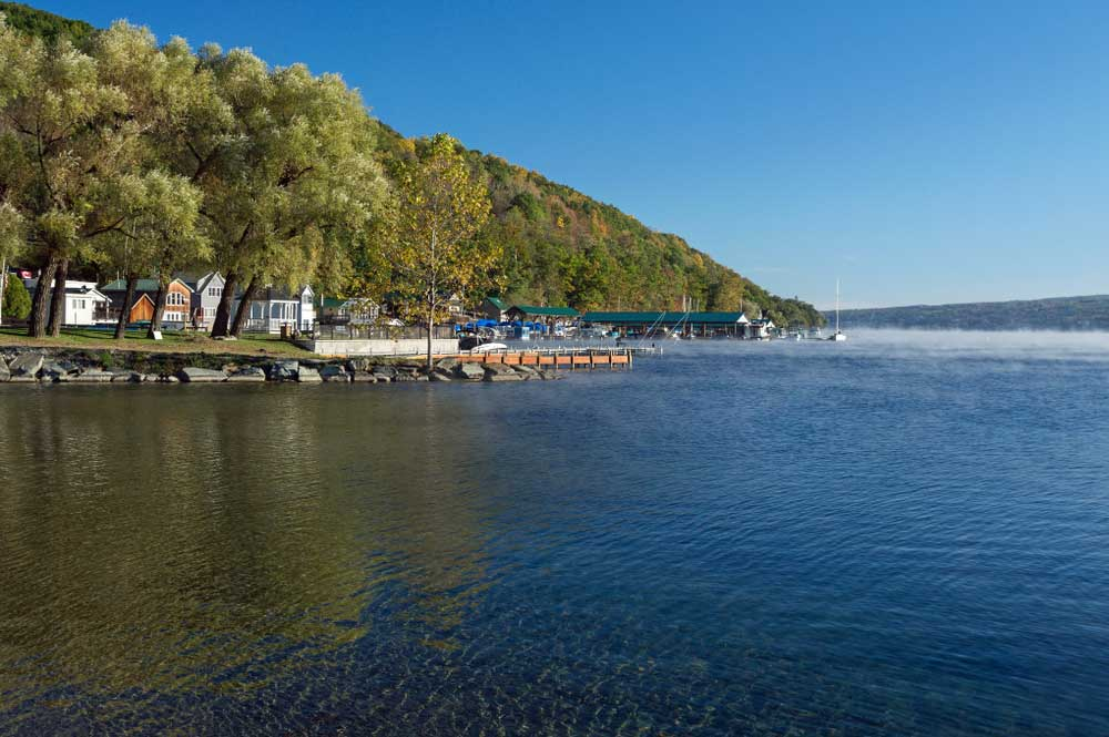 Keuka Lake in the Finger Lakes Region of New York State