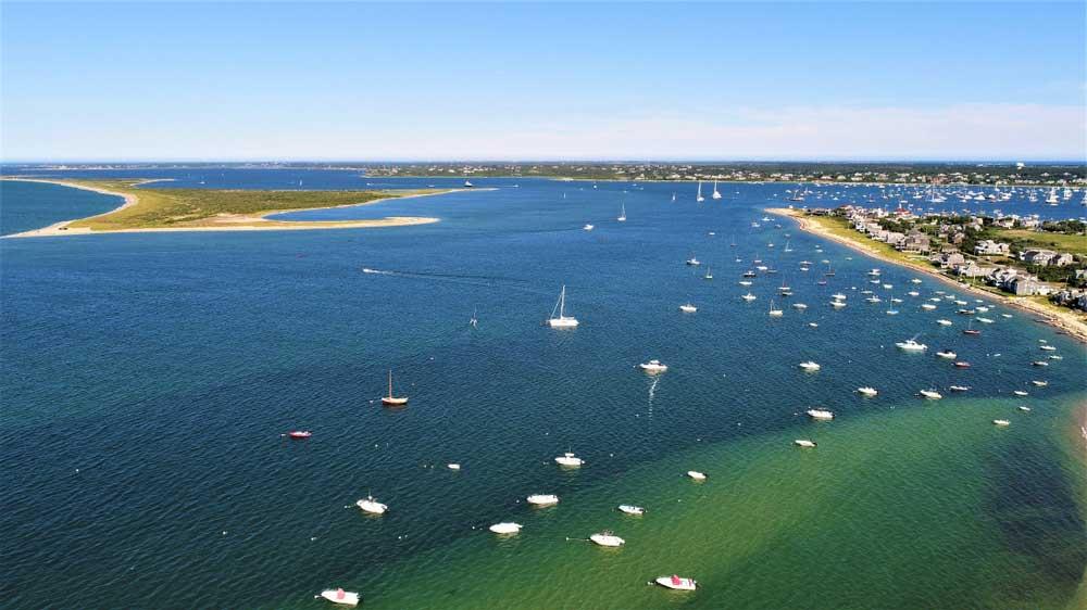 Nantucket vom Meer aus
