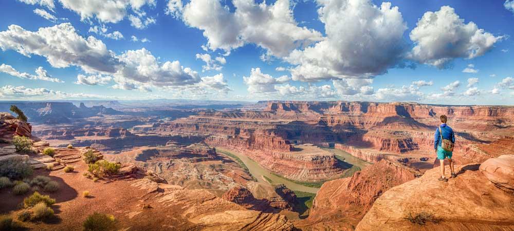 panoramischer Blick über den Grand Canyon