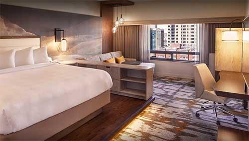 Room at the Hilton Hotel Denver City Center