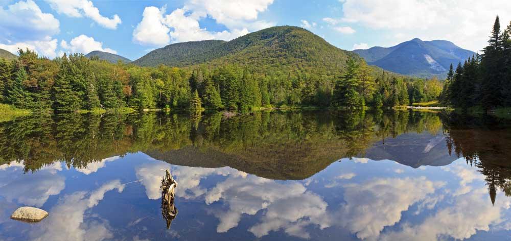 Panorama Ausblick auf die Adirondack Mountains