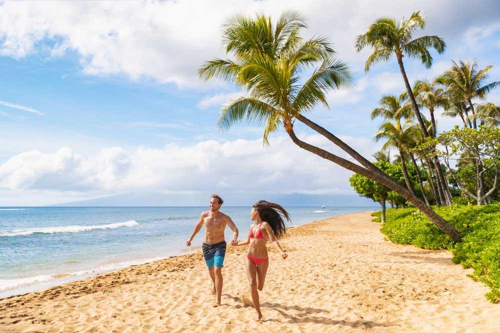 Maui Hawaii Spass am Strand