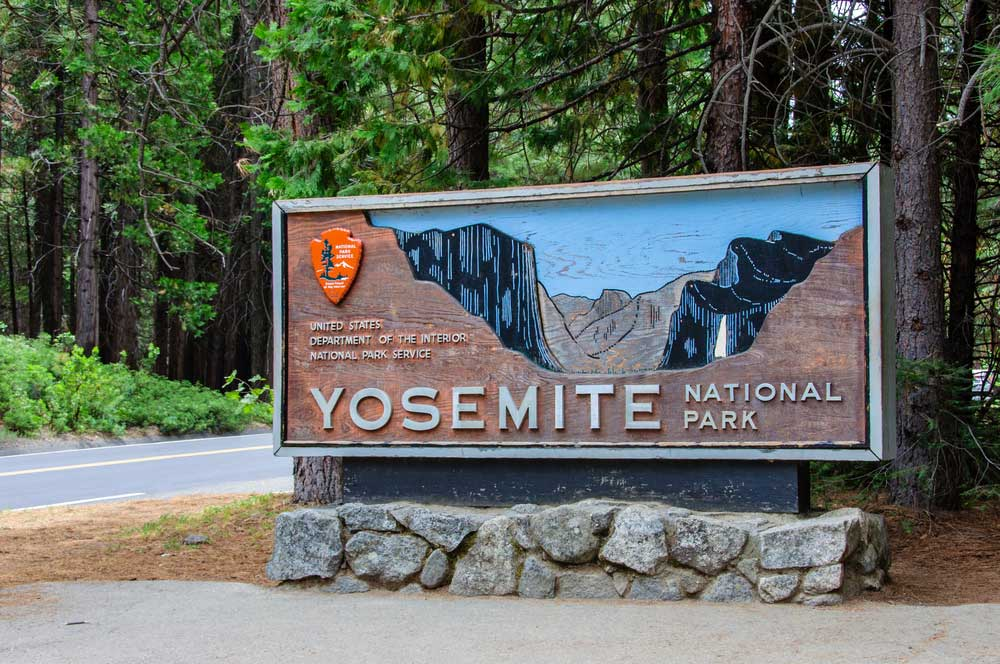 With your ESTA to the Yosemite National Park
