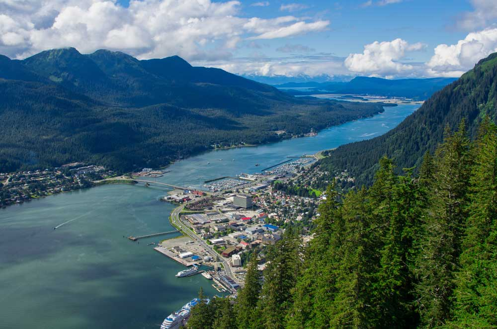Arial photo of Juneau Alaska