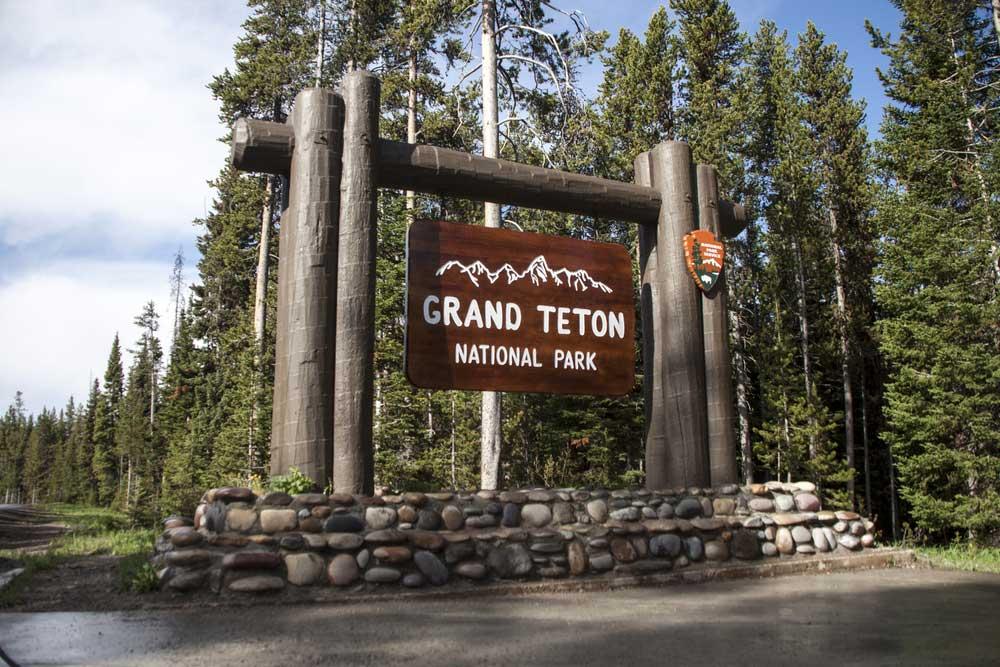 Eingang zu Teton nationalpark